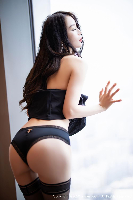 [XiuRen] Vol.2535 Meng Xin Yue 35P, Black Silk, Meng Xin Yue, Slim, Tall, Xiuren