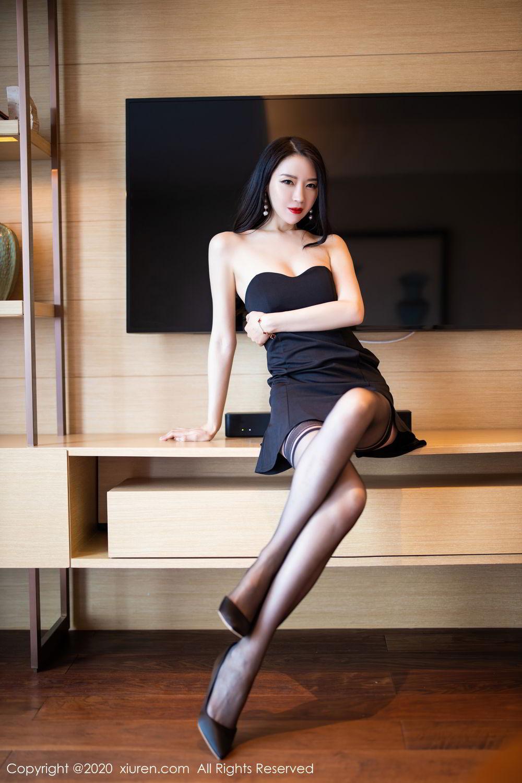 [XiuRen] Vol.2535 Meng Xin Yue 42P, Black Silk, Meng Xin Yue, Slim, Tall, Xiuren