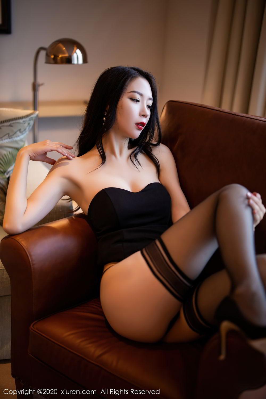 [XiuRen] Vol.2535 Meng Xin Yue 45P, Black Silk, Meng Xin Yue, Slim, Tall, Xiuren