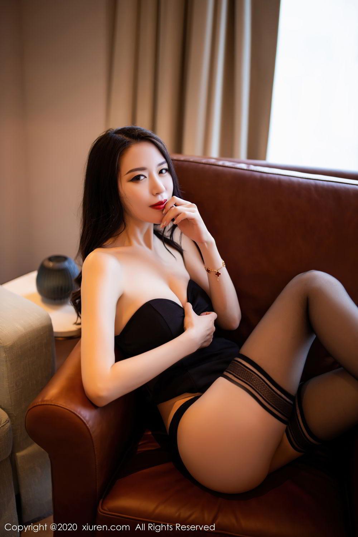 [XiuRen] Vol.2535 Meng Xin Yue 46P, Black Silk, Meng Xin Yue, Slim, Tall, Xiuren