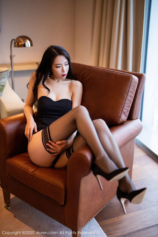 [XiuRen] Vol.2535 Meng Xin Yue 51P, Black Silk, Meng Xin Yue, Slim, Tall, Xiuren