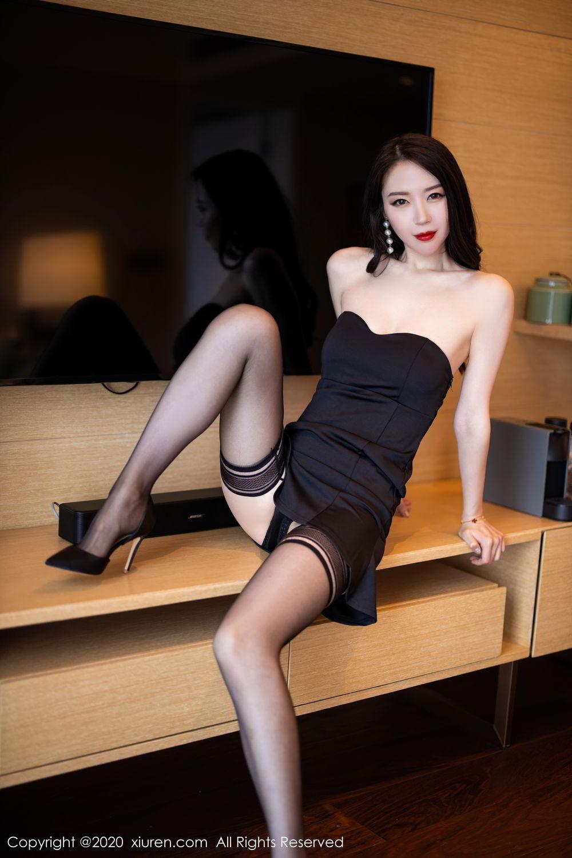 [XiuRen] Vol.2535 Meng Xin Yue 53P, Black Silk, Meng Xin Yue, Slim, Tall, Xiuren