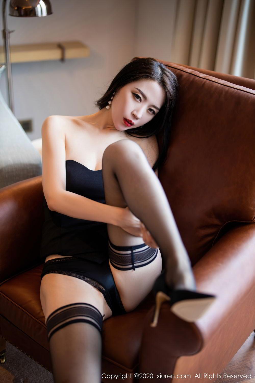[XiuRen] Vol.2535 Meng Xin Yue 54P, Black Silk, Meng Xin Yue, Slim, Tall, Xiuren