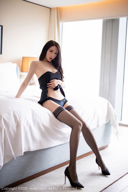 [XiuRen] Vol.2535 Meng Xin Yue 55P, Black Silk, Meng Xin Yue, Slim, Tall, Xiuren