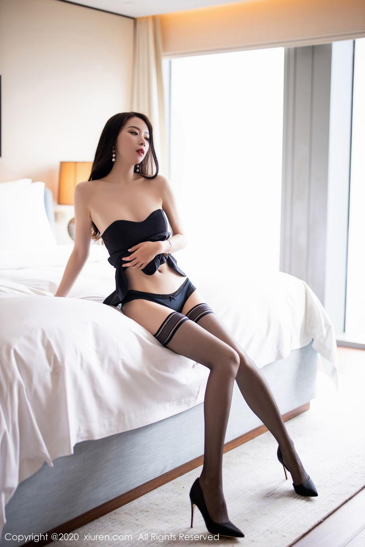 [XiuRen] Vol.2535 Meng Xin Yue 56P, Black Silk, Meng Xin Yue, Slim, Tall, Xiuren