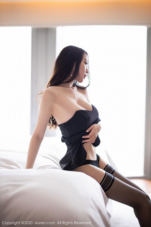 [XiuRen] Vol.2535 Meng Xin Yue 57P, Black Silk, Meng Xin Yue, Slim, Tall, Xiuren
