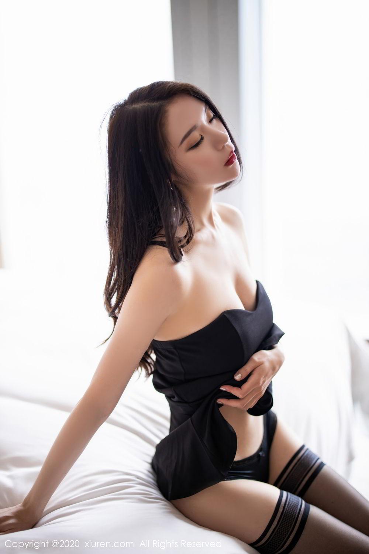 [XiuRen] Vol.2535 Meng Xin Yue 58P, Black Silk, Meng Xin Yue, Slim, Tall, Xiuren