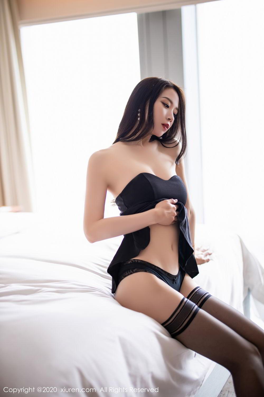 [XiuRen] Vol.2535 Meng Xin Yue 59P, Black Silk, Meng Xin Yue, Slim, Tall, Xiuren