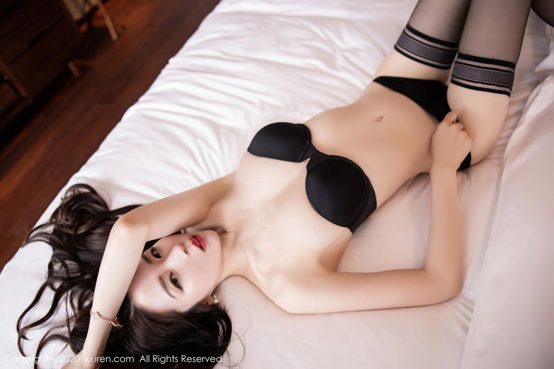 [XiuRen] Vol.2535 Meng Xin Yue 5P, Black Silk, Meng Xin Yue, Slim, Tall, Xiuren