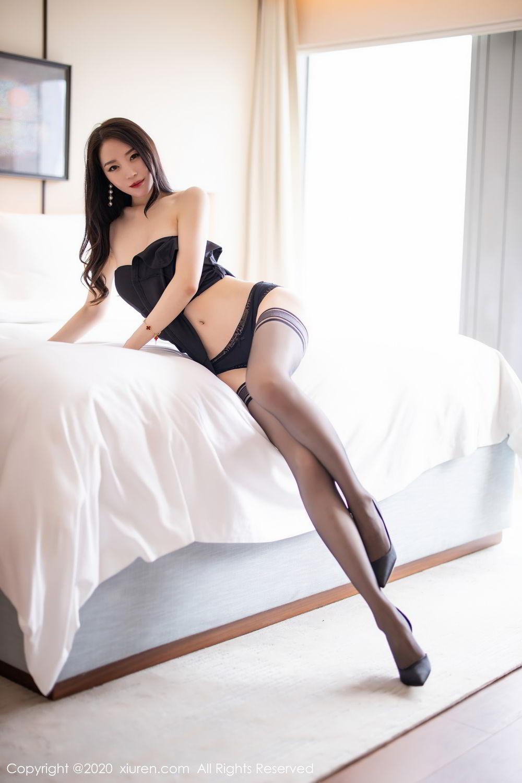 [XiuRen] Vol.2535 Meng Xin Yue 62P, Black Silk, Meng Xin Yue, Slim, Tall, Xiuren