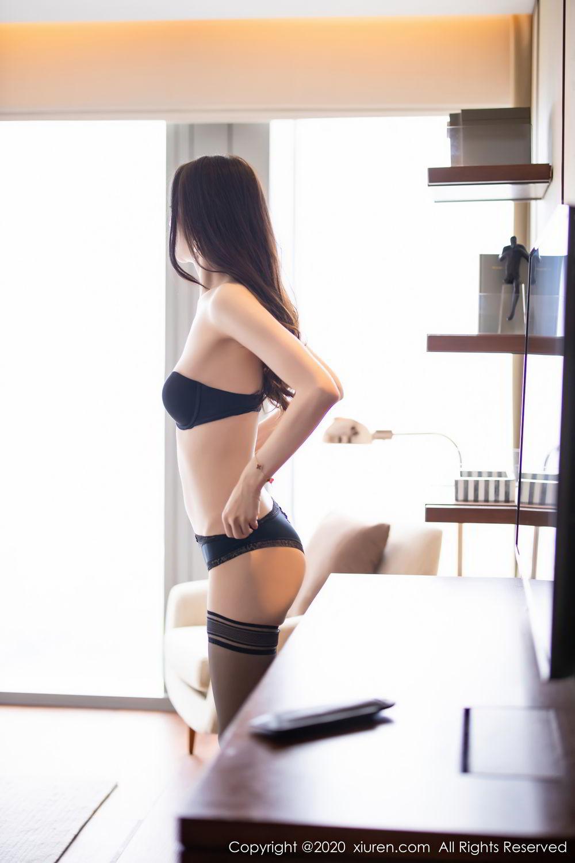 [XiuRen] Vol.2535 Meng Xin Yue 74P, Black Silk, Meng Xin Yue, Slim, Tall, Xiuren