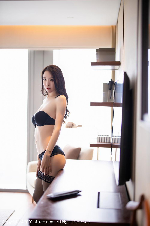 [XiuRen] Vol.2535 Meng Xin Yue 76P, Black Silk, Meng Xin Yue, Slim, Tall, Xiuren