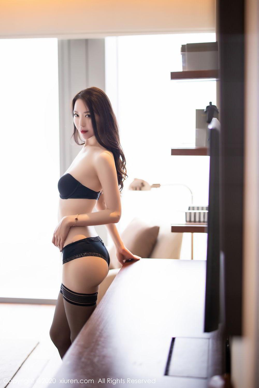 [XiuRen] Vol.2535 Meng Xin Yue 77P, Black Silk, Meng Xin Yue, Slim, Tall, Xiuren