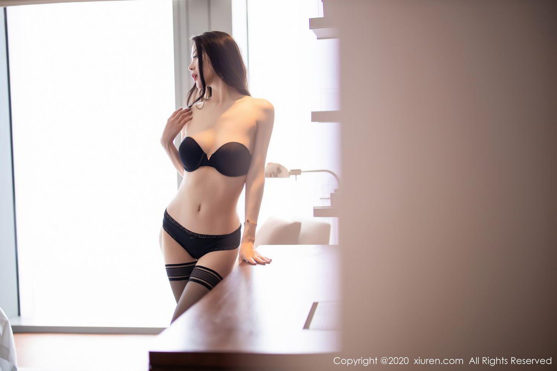 [XiuRen] Vol.2535 Meng Xin Yue 78P, Black Silk, Meng Xin Yue, Slim, Tall, Xiuren