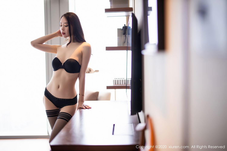 [XiuRen] Vol.2535 Meng Xin Yue 79P, Black Silk, Meng Xin Yue, Slim, Tall, Xiuren