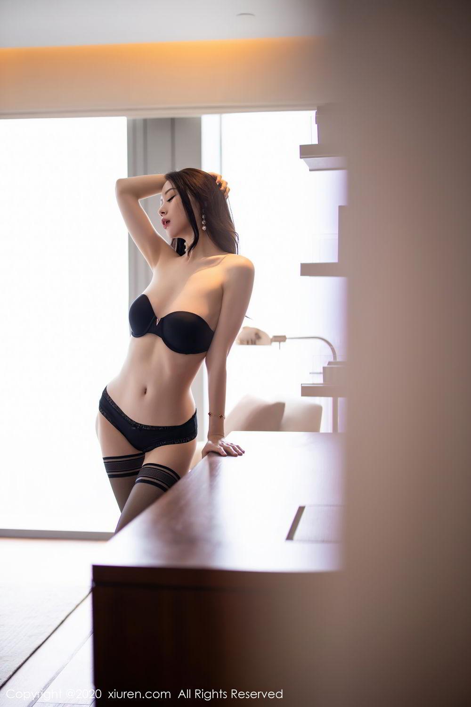 [XiuRen] Vol.2535 Meng Xin Yue 81P, Black Silk, Meng Xin Yue, Slim, Tall, Xiuren