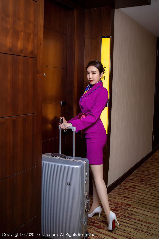 [XiuRen] Vol.2538 Yu Tu Miki 28P, Stewardess, Tall, Xiuren, Yu Tu M I K I