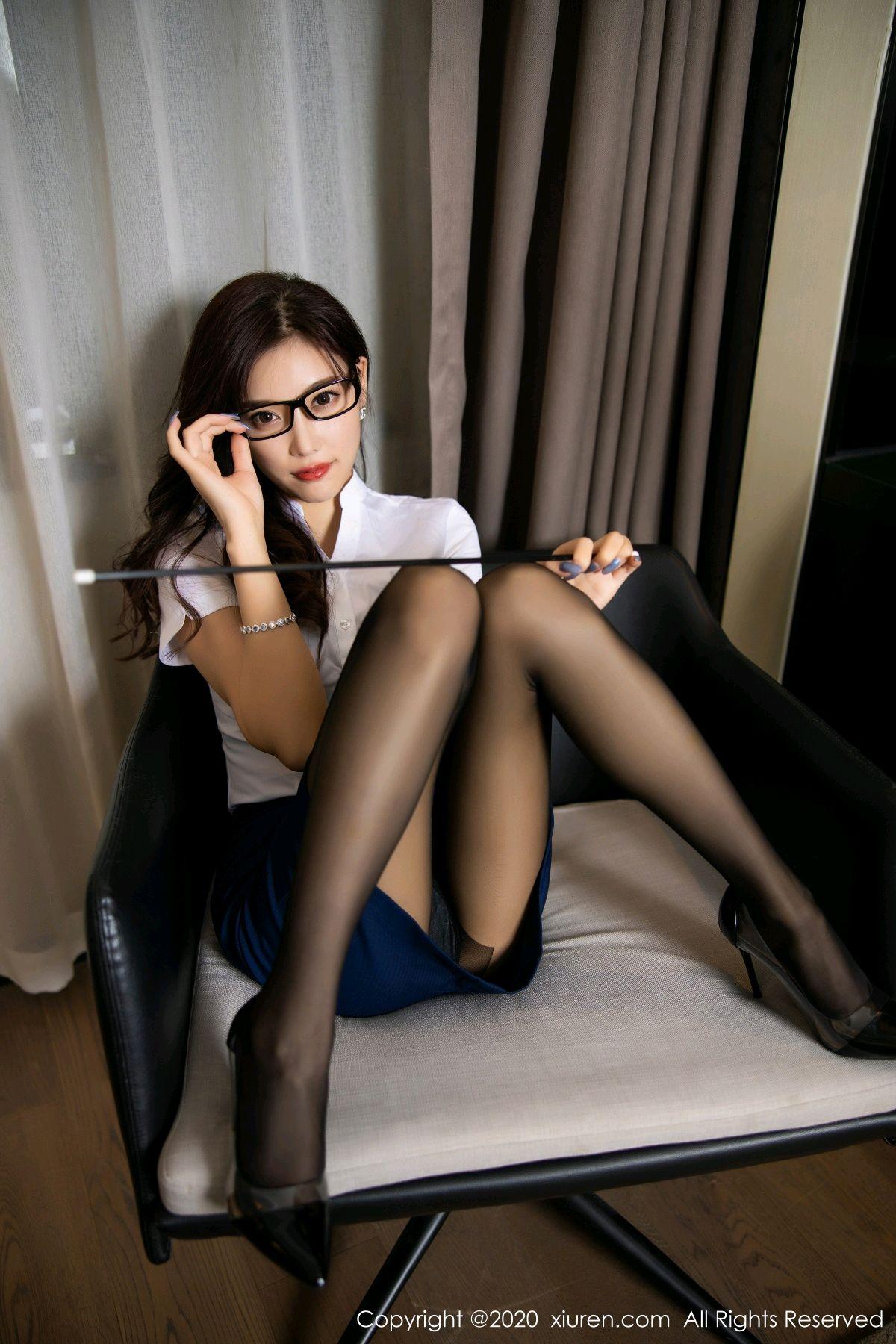 [XiuRen] Vol.2541 Yang Chen Chen 17P, Black Silk, Tall, Uniform, Xiuren, Yang Chen Chen