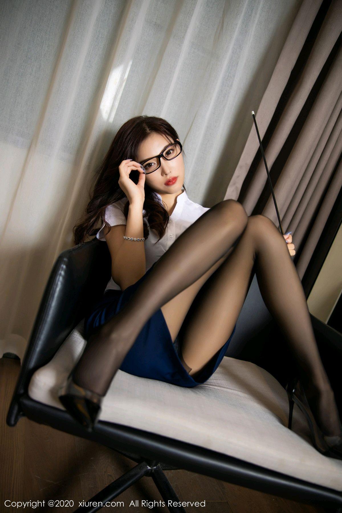[XiuRen] Vol.2541 Yang Chen Chen 18P, Black Silk, Tall, Uniform, Xiuren, Yang Chen Chen