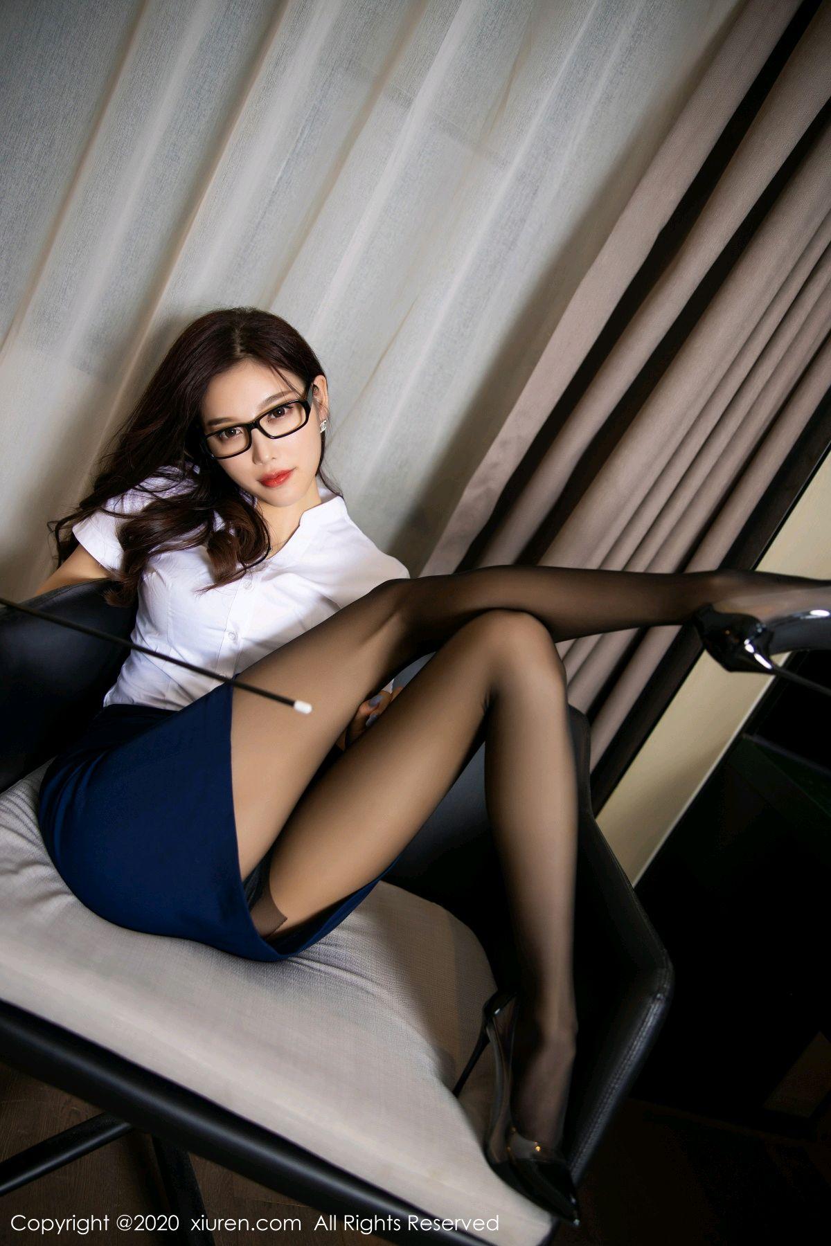 [XiuRen] Vol.2541 Yang Chen Chen 23P, Black Silk, Tall, Uniform, Xiuren, Yang Chen Chen