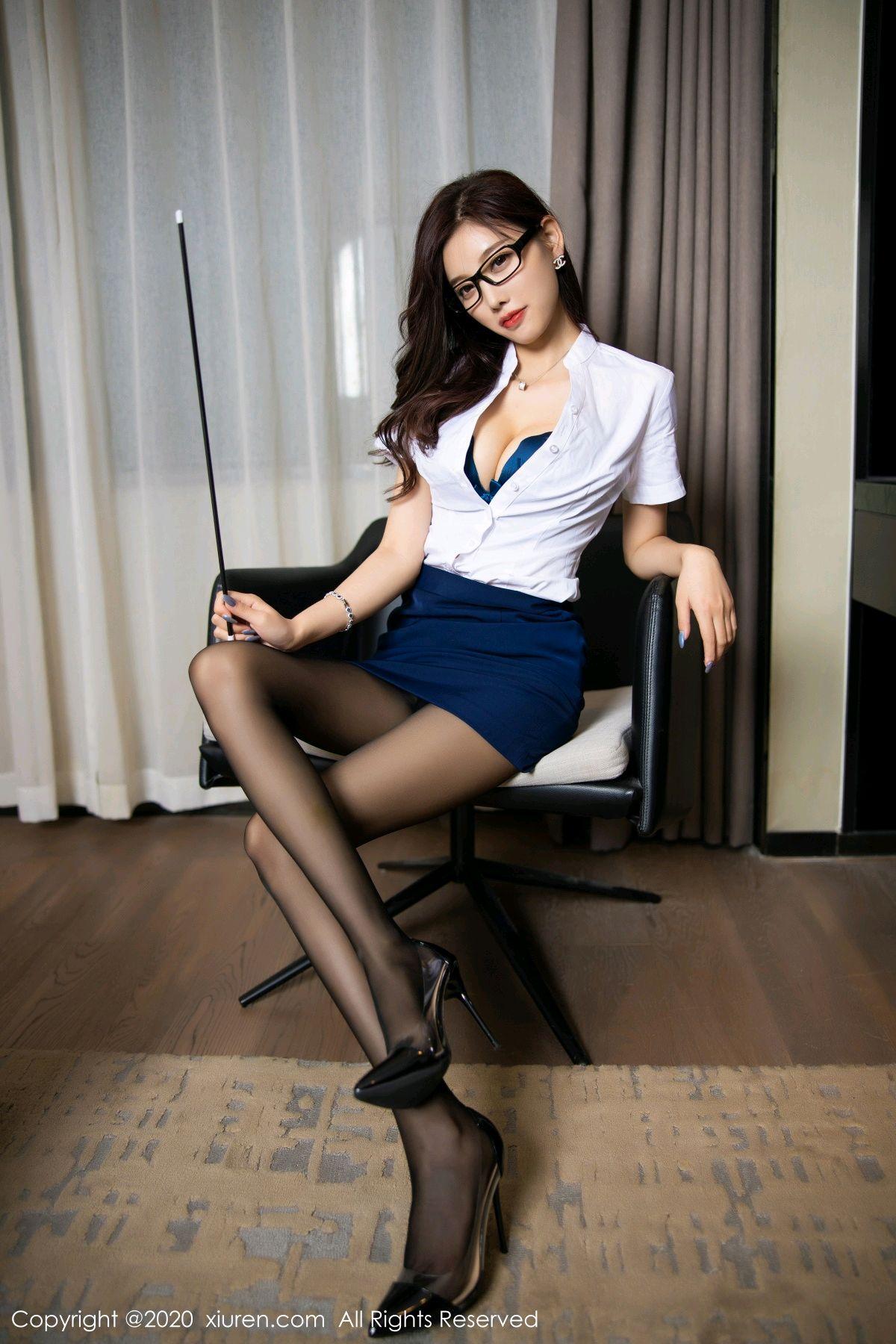 [XiuRen] Vol.2541 Yang Chen Chen 30P, Black Silk, Tall, Uniform, Xiuren, Yang Chen Chen