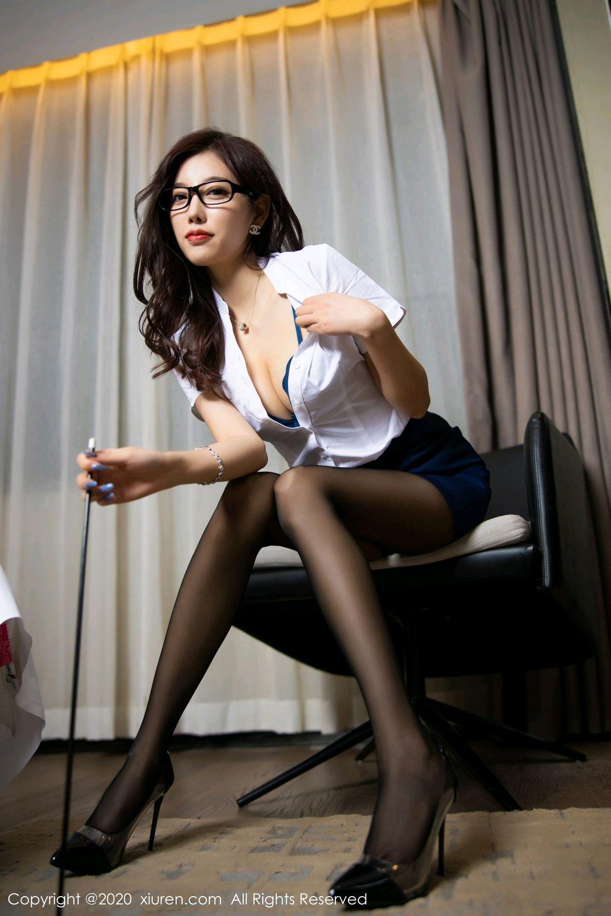 [XiuRen] Vol.2541 Yang Chen Chen 31P, Black Silk, Tall, Uniform, Xiuren, Yang Chen Chen