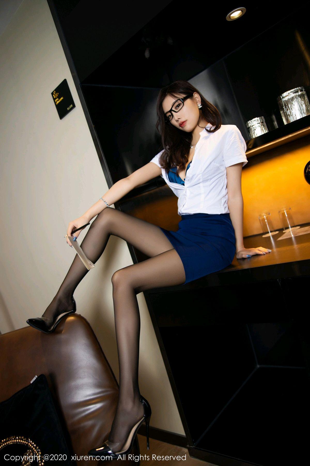 [XiuRen] Vol.2541 Yang Chen Chen 35P, Black Silk, Tall, Uniform, Xiuren, Yang Chen Chen