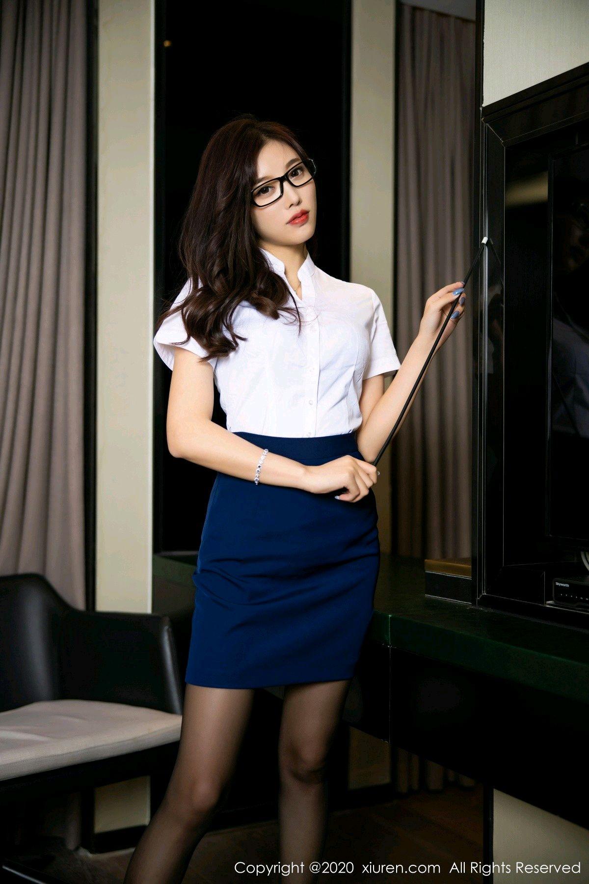 [XiuRen] Vol.2541 Yang Chen Chen 3P, Black Silk, Tall, Uniform, Xiuren, Yang Chen Chen