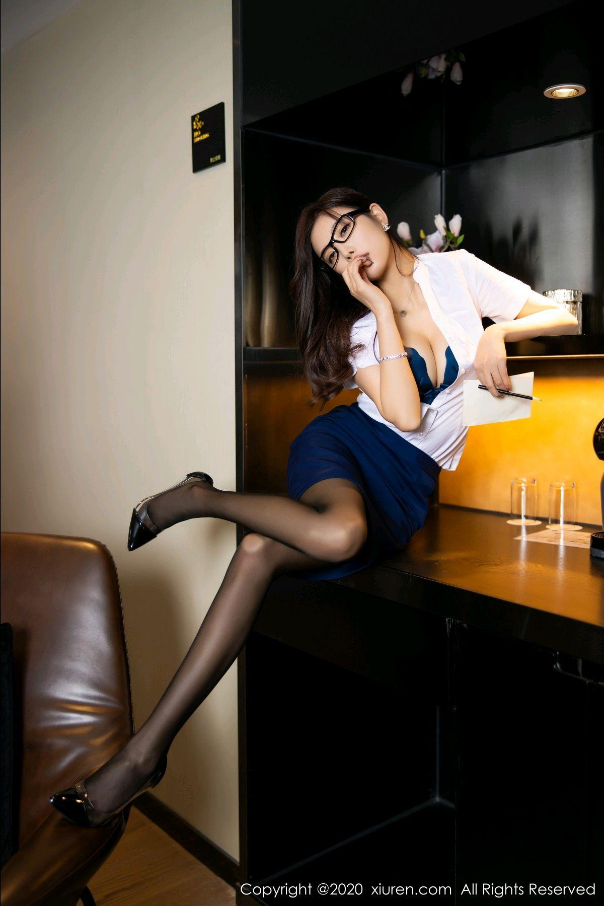 [XiuRen] Vol.2541 Yang Chen Chen 42P, Black Silk, Tall, Uniform, Xiuren, Yang Chen Chen