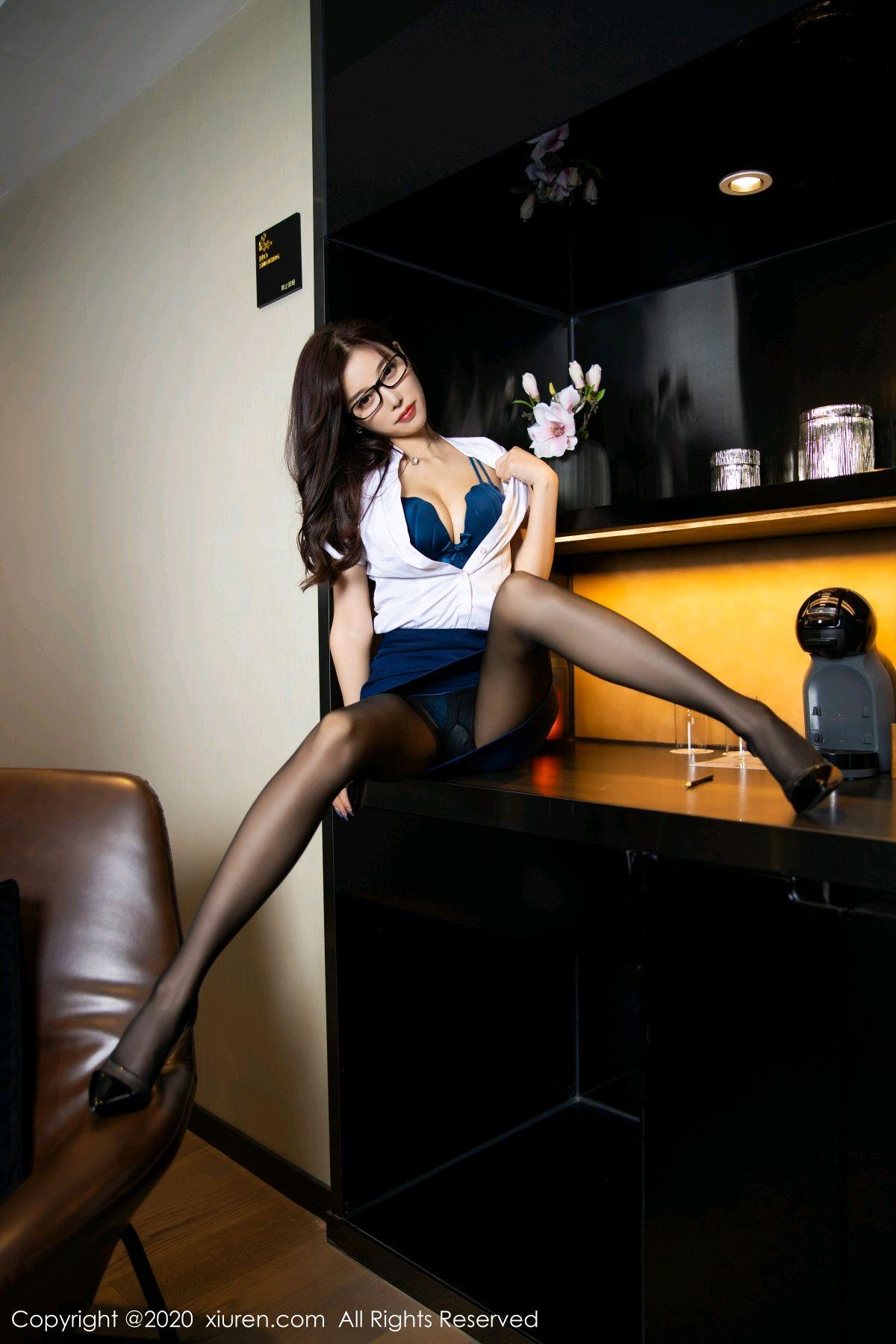 [XiuRen] Vol.2541 Yang Chen Chen 43P, Black Silk, Tall, Uniform, Xiuren, Yang Chen Chen