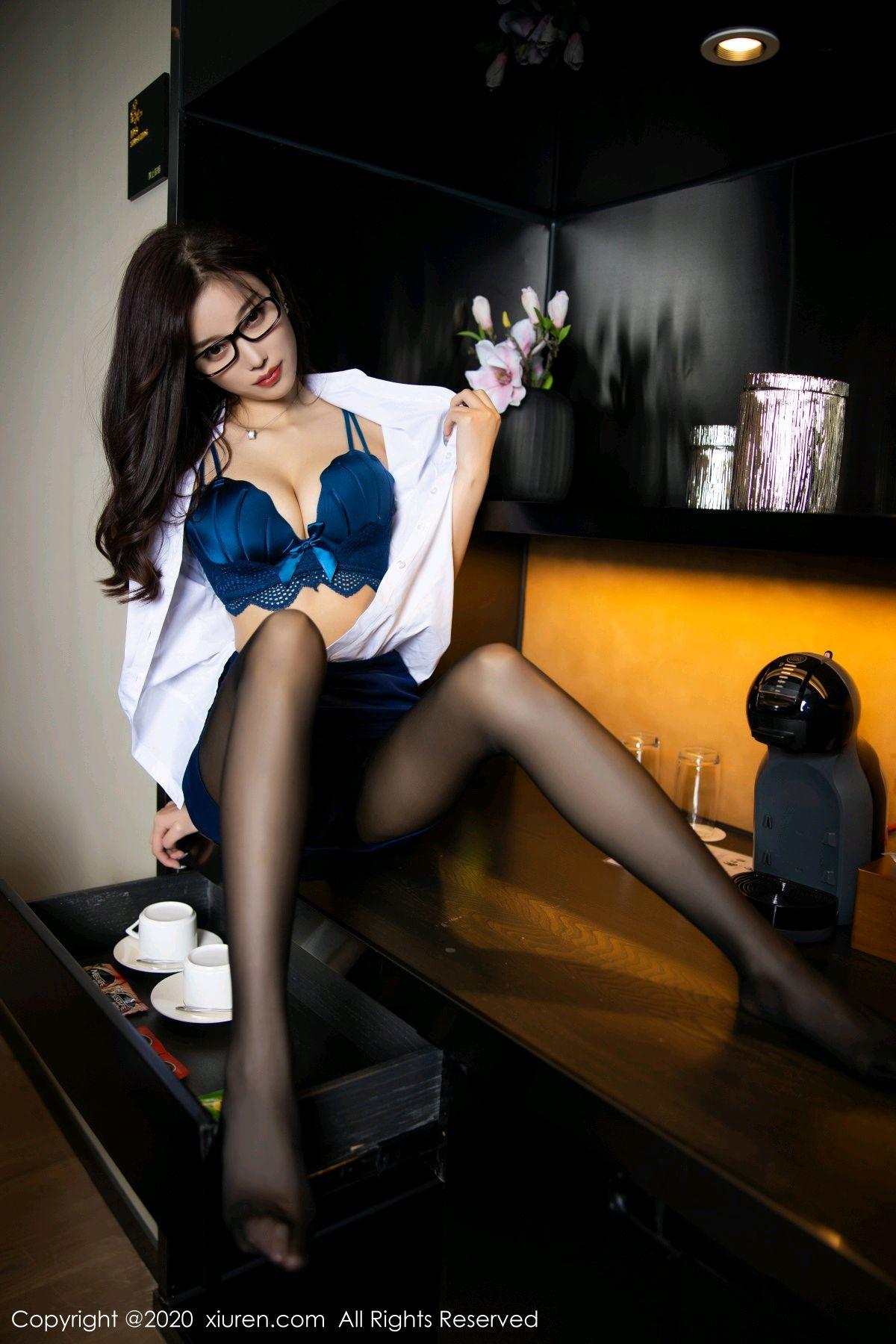 [XiuRen] Vol.2541 Yang Chen Chen 50P, Black Silk, Tall, Uniform, Xiuren, Yang Chen Chen
