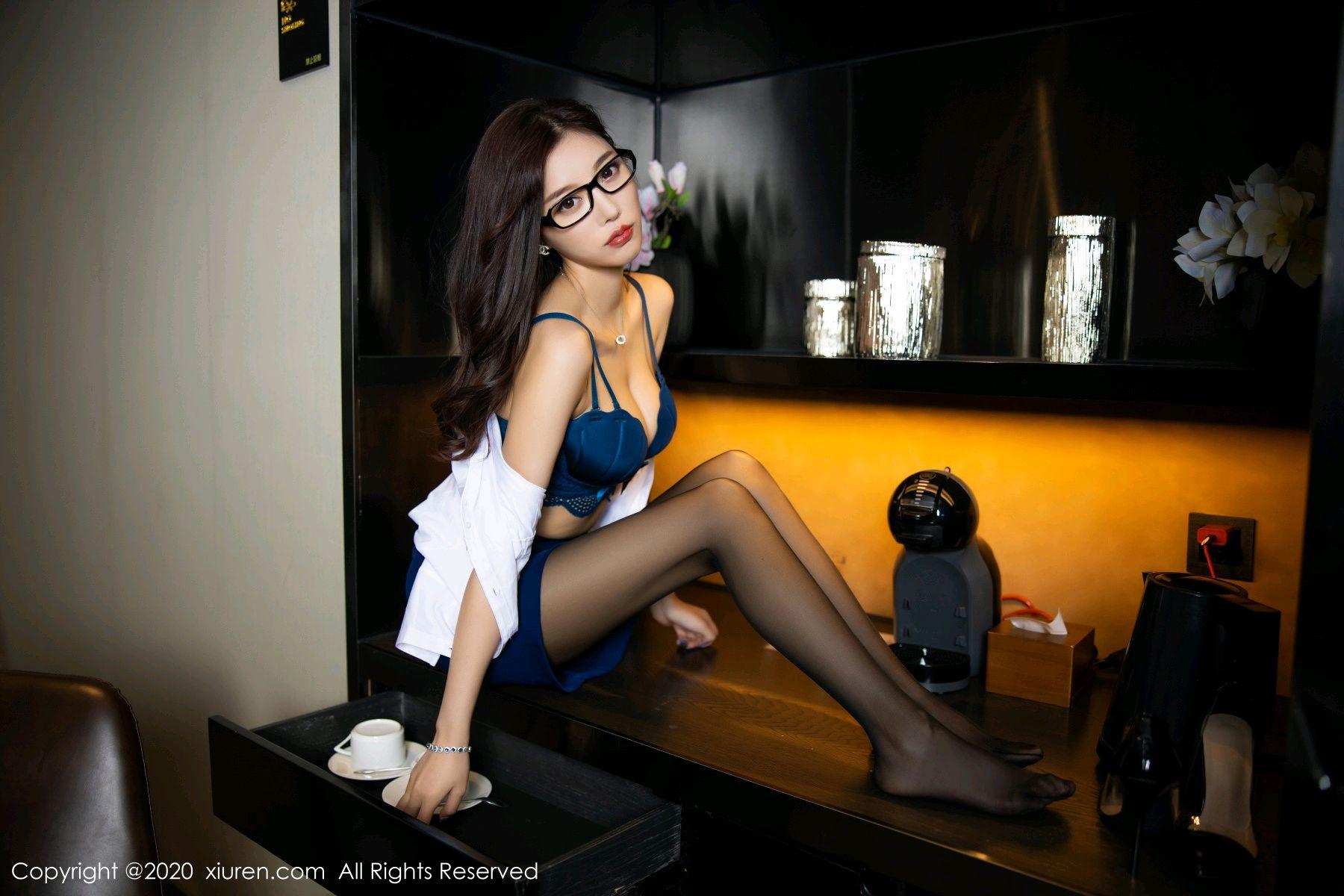 [XiuRen] Vol.2541 Yang Chen Chen 54P, Black Silk, Tall, Uniform, Xiuren, Yang Chen Chen