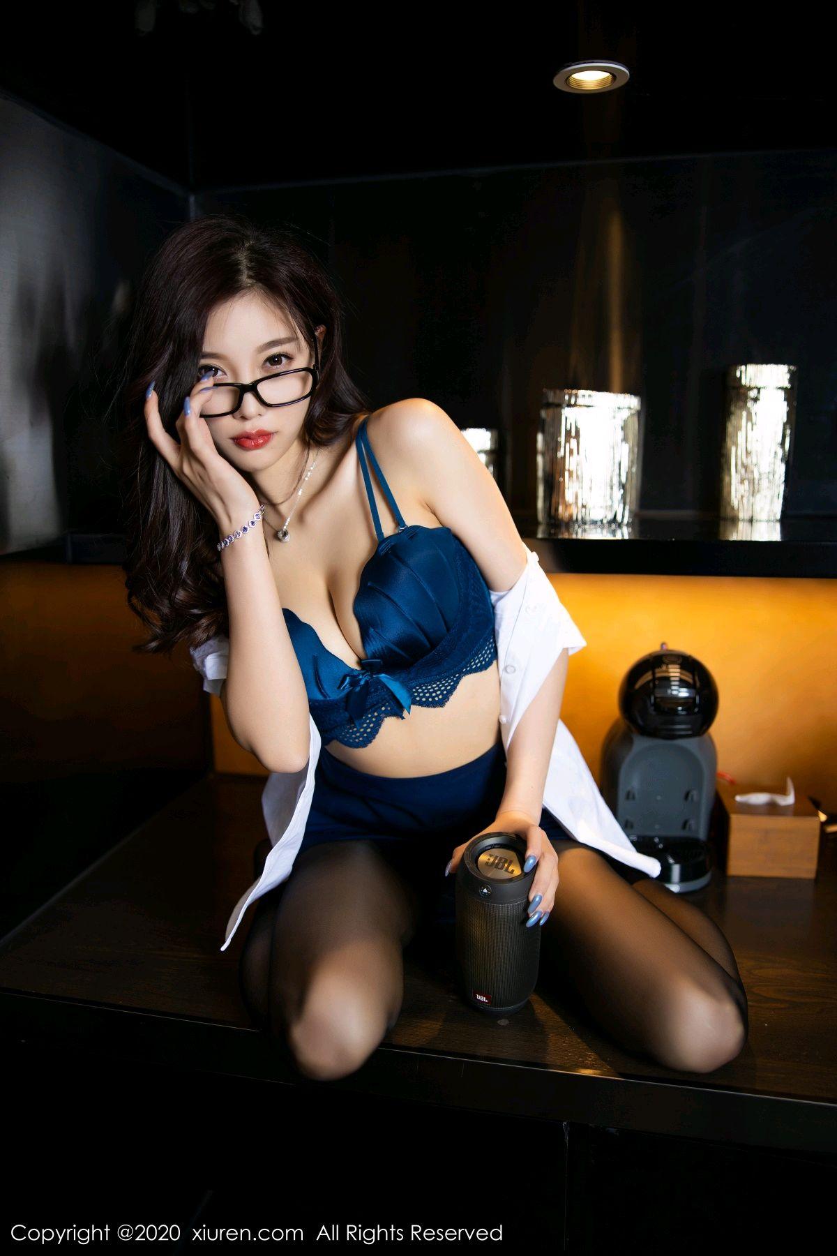 [XiuRen] Vol.2541 Yang Chen Chen 60P, Black Silk, Tall, Uniform, Xiuren, Yang Chen Chen