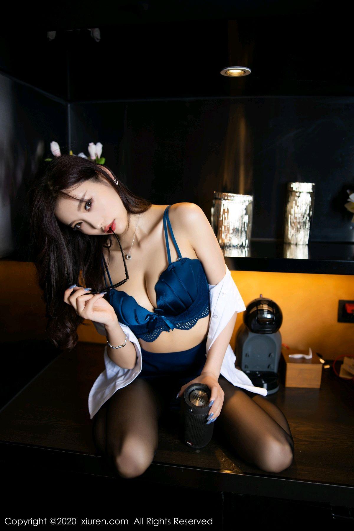 [XiuRen] Vol.2541 Yang Chen Chen 62P, Black Silk, Tall, Uniform, Xiuren, Yang Chen Chen