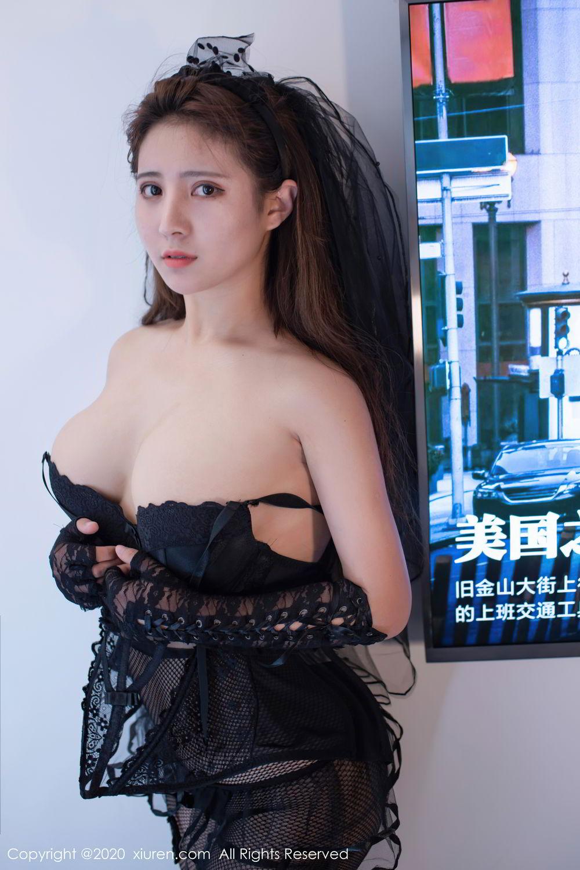 [XiuRen] Vol.2542 Jiu Jiu Aimee 2P, Black Silk, Jiu Jiu Aimee, Underwear, Xiuren