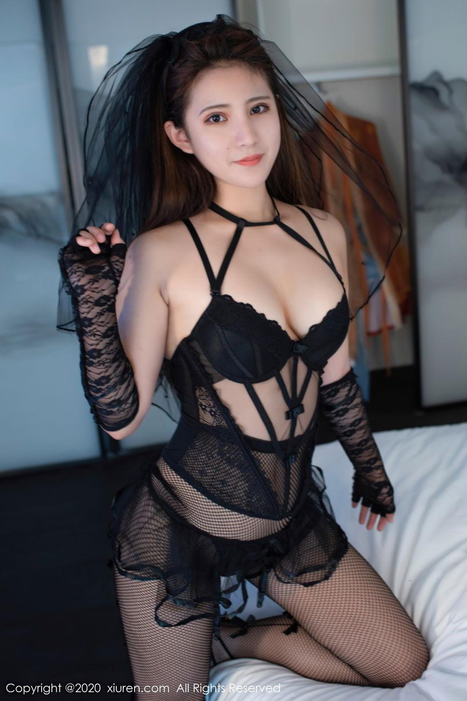 [XiuRen] Vol.2542 Jiu Jiu Aimee 35P, Black Silk, Jiu Jiu Aimee, Underwear, Xiuren
