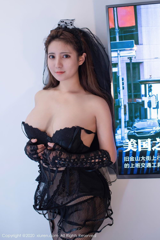 [XiuRen] Vol.2542 Jiu Jiu Aimee 3P, Black Silk, Jiu Jiu Aimee, Underwear, Xiuren