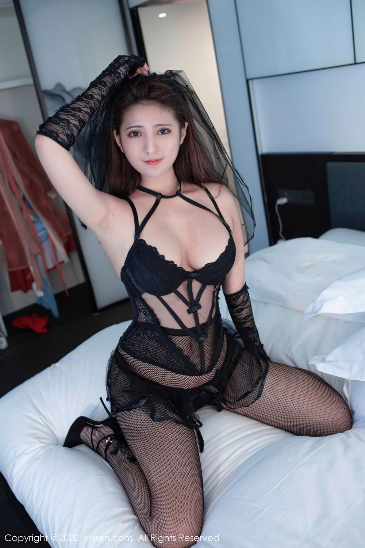 [XiuRen] Vol.2542 Jiu Jiu Aimee 40P, Black Silk, Jiu Jiu Aimee, Underwear, Xiuren