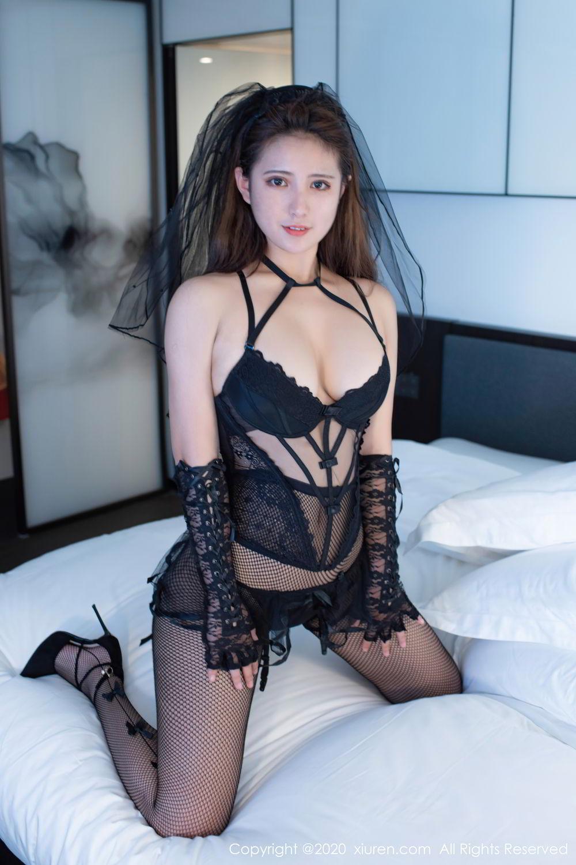 [XiuRen] Vol.2542 Jiu Jiu Aimee 43P, Black Silk, Jiu Jiu Aimee, Underwear, Xiuren