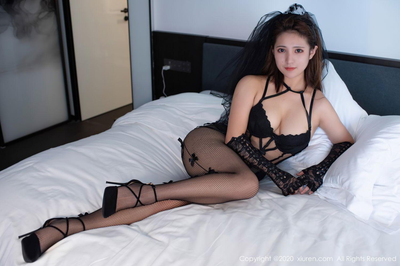[XiuRen] Vol.2542 Jiu Jiu Aimee 47P, Black Silk, Jiu Jiu Aimee, Underwear, Xiuren