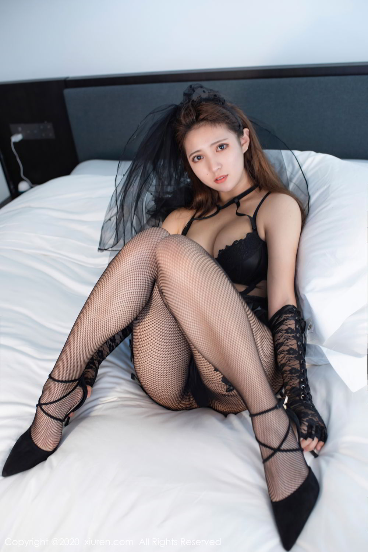 [XiuRen] Vol.2542 Jiu Jiu Aimee 51P, Black Silk, Jiu Jiu Aimee, Underwear, Xiuren