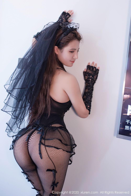 [XiuRen] Vol.2542 Jiu Jiu Aimee 55P, Black Silk, Jiu Jiu Aimee, Underwear, Xiuren