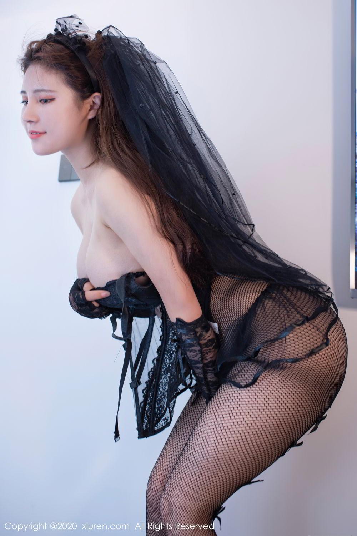 [XiuRen] Vol.2542 Jiu Jiu Aimee 5P, Black Silk, Jiu Jiu Aimee, Underwear, Xiuren