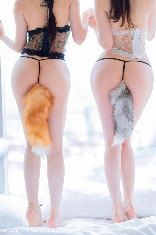 [XiuRen] Vol.2543 Fox Sisters 18P, Cosplay, Mini Da Meng Meng, Sisters, Xiuren, Yu Tu M I K I, 玉兔