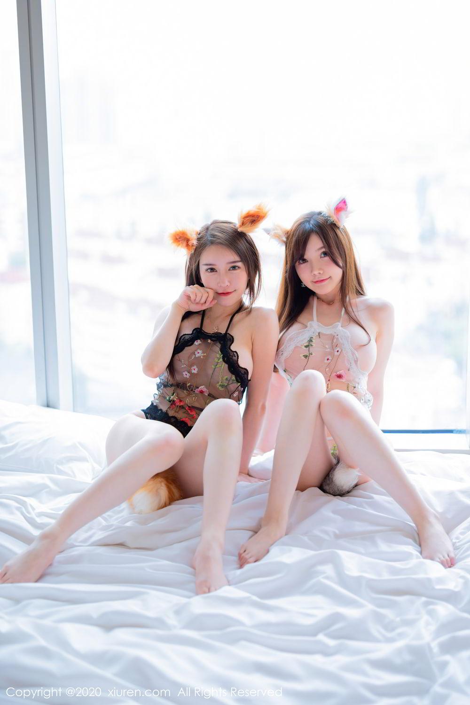 [XiuRen] Vol.2543 Fox Sisters 25P, Cosplay, Mini Da Meng Meng, Sisters, Xiuren, Yu Tu M I K I, 玉兔