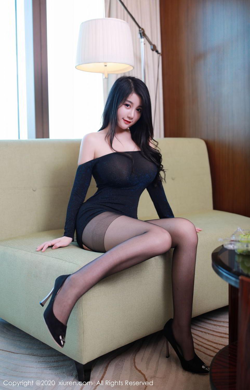 [XiuRen] Vol.2548 Mei Qi 16P, Black Silk, Mei Qi, Underwear, Xiuren, 美七, 美七Mia