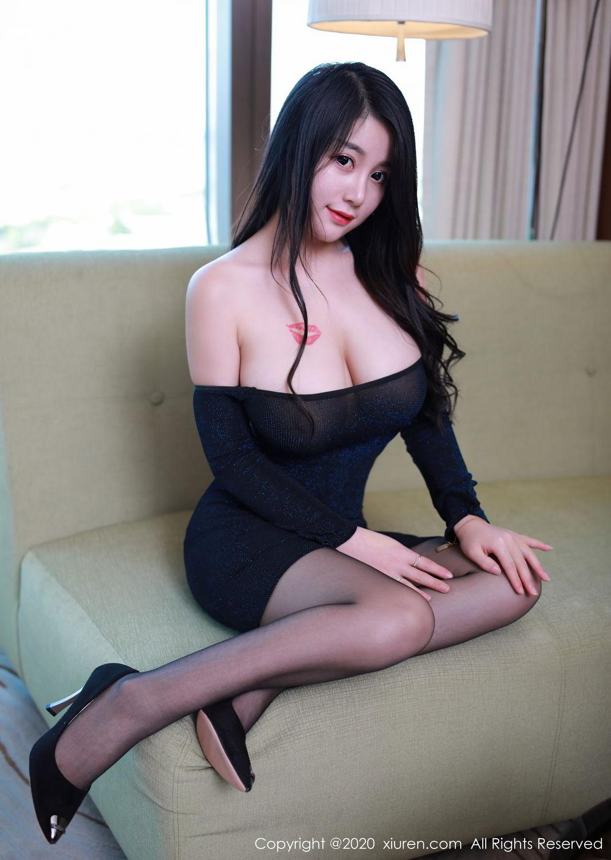 [XiuRen] Vol.2548 Mei Qi 18P, Black Silk, Mei Qi, Underwear, Xiuren, 美七, 美七Mia