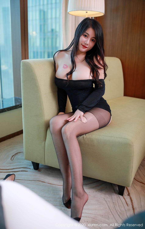[XiuRen] Vol.2548 Mei Qi 1P, Black Silk, Mei Qi, Underwear, Xiuren, 美七, 美七Mia