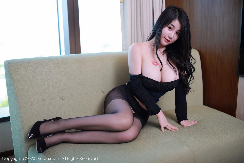 [XiuRen] Vol.2548 Mei Qi 22P, Black Silk, Mei Qi, Underwear, Xiuren, 美七, 美七Mia