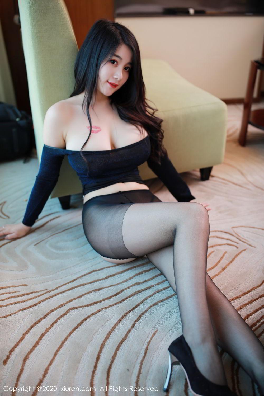 [XiuRen] Vol.2548 Mei Qi 23P, Black Silk, Mei Qi, Underwear, Xiuren, 美七, 美七Mia